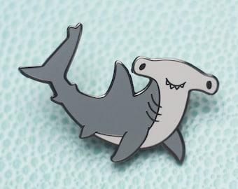 Hammerhead Shark Hard Enamel Lapel Pin