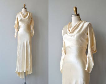 Adair silk wedding gown | vintage 1930s wedding dress | bias silk 30s wedding dress