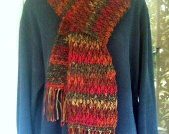 Scarf, Neckwarmer, Neck Scarf, Scarves, Unisex, Multi-color, Crochet, Men, Women