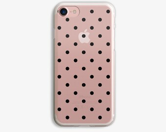 Black White Dots iPhone 6 Plus Case iPhone 7 Case iPhone 6 Plus Case Clear iPhone 6 Case iPhone 7 Case Black or White