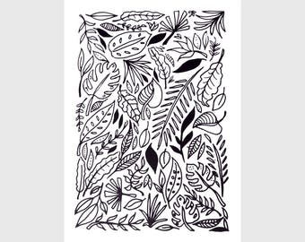 Jungle Leaves - Screenprint