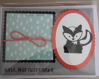 Sympathy Card with Punch Art Skunk & a Little Humor