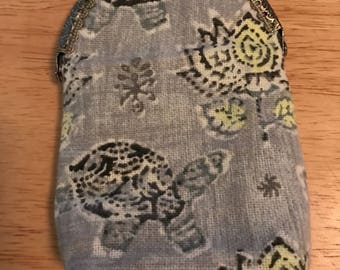 Essential oil pouch, carrying case, coin purse, turtles