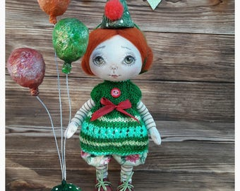 Art doll, Doll OOAK, Cloth doll, Art doll, Textile doll, Collecting doll, Fabric doll, Soft doll, Rag doll,Handmade interior doll,Gift