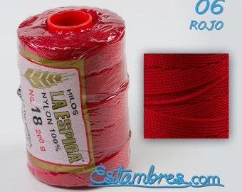 ESPIGA OMEGA #18 tubo c/180 mts/200 grs, Nylon Thread Yarn
