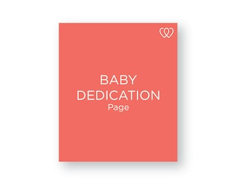 Baby Dedication Religious Page | Additional Baby Book Page Pack