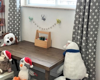 Fun Swiss Cross Curtains, Plus Sign, Cross, Window Treatments, Nursery Decor, Nursery Curtains, Window Treatments