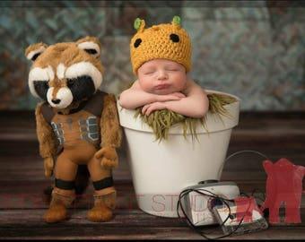 Baby Groot Hat, Crochet Groot Hat, Newborn Groot Hat, First Birthday, Baby Shower Gift, Coming Home Hat, Cake Smash, Baby Groot Hospital Hat