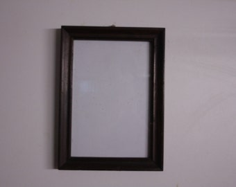 Old rectangular wooden frame vintage antique small