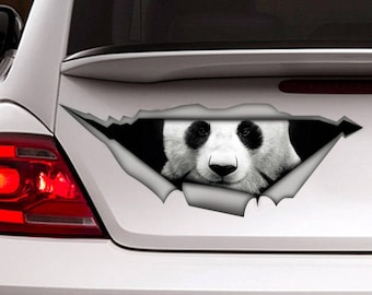 Panda  car decal, Vinyl decal, car sticker, panda sticker , animal sticker, funny decal