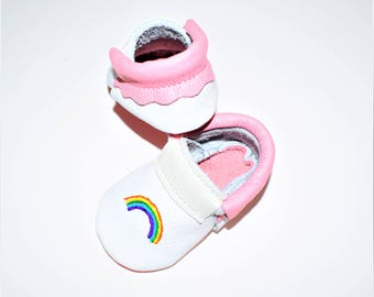 Rainbow Baby Moccasins, Rainbow Baby shoes, Loafer Moccasins, Baby Gifts