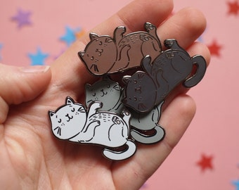 Tummy Tickle Cat Pin