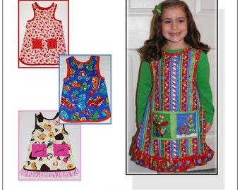 Nana's Child's NO-Tie Apron PDF Pattern Sizes 2-12yrs