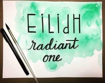 Custom Hand Lettering Watercolor Background