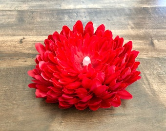 Chrysanthemum Tea Light - Red