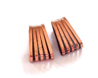 Vintage RENOIR Copper SWIRL Earrings, Modernist Clip Earrings, MCM Copper Earrings, Renoir Earrings, Renoir Jewelry, Copper Jewelry