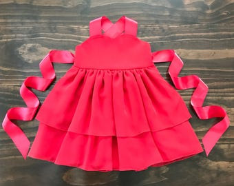 Girls red dress - Toddler red dress - Red girls dress - Toddler chiffon dress - Special Occasion dress - Ballerina dress - Christmas dress