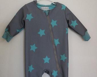 Softshellanzug Grey Turquoise Stars