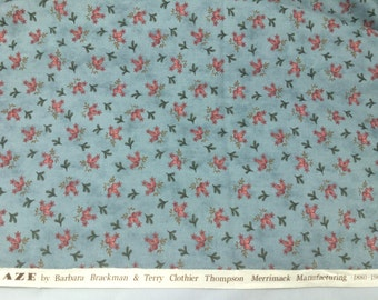 """2 yd  Moda ; """"Calico Craze""""; 1880- 1900 reproduction; Out of print; 100% cotton premium quilt fabric Blue and pink"""