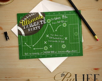 Ultimate Tailgate Football Party or Birthday Invitation Printable DIY No. I227 Black Friday Sale