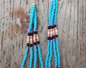 Native design, beaded earrings