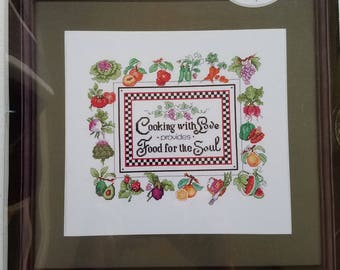 Cooking with Love Counted Cross Stitch Kit