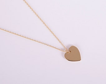 Golden Necklace Gold Heart Love Chain Hearts Gold Plated Chain Gold Plated