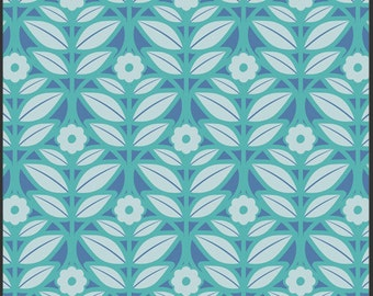 1 Yard    Modernology Mod Impressions Aqua by Pat Bravo for Art Gallery Fabrics