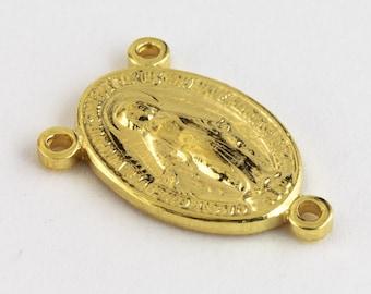 15.5mm Gold Filled Rosary Center #BGA032