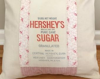 "16"" Vintage Sugar Bag Pillow Cover"