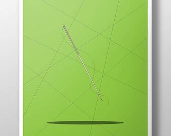 Naruto Needle Sword Print, Art Poster, Art Illustration, Wall Decor, Minimal Design