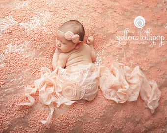 Petite Gray Bow Headband - OR You Choose Color - Cream Khaki Peach Hot Pink Aqua Blue Red Black White - Newborn Infant Baby Girl Toddler