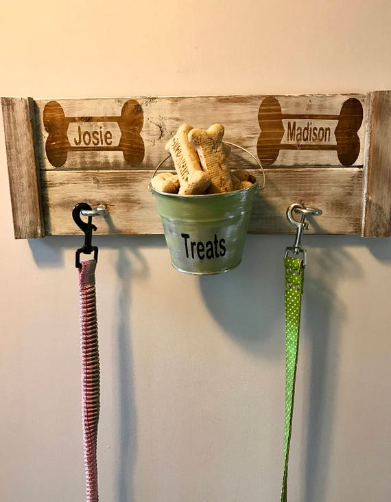 Pet Leash Holder, Pet Treat Holder, Leash Holder, Pet Leash Hanger, Custom Dog, Pet Leash Hook, Custom Leash Holder, Rustic Dog treat holder