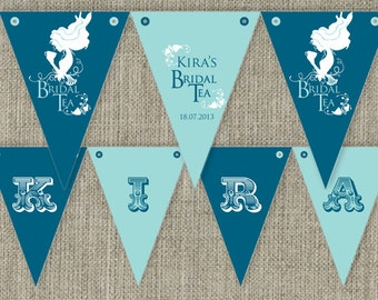 Vintage Bridal Shower Tea - High Tea Party Bunting Flags party decorations. Printable. DIY print at home.