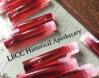 SAMPLE Liquid Bloom Of Roses 1780 - 1958  Liquid Cheek Stain Liquid Lip Stain Makeup Natural Blush Natural Lipstick Victorian Regency