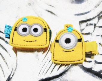 My Favorite Underling Clippie, Your Choice of a Minion Inspired Hair Clip