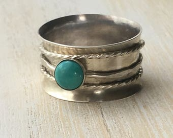 Turquoise Spinner Ring Size 9