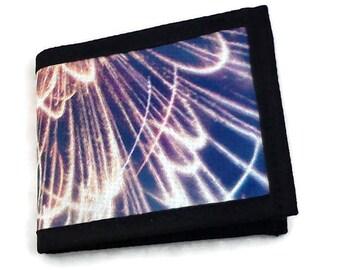 Light blue unisex wallet of fireworks