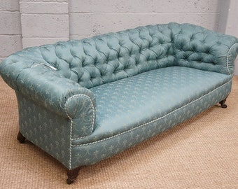 Antique Upholstered Chesterfield Sofa
