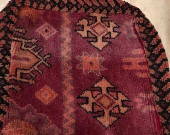 Moroccan pouf, carpet pillow, ottoman, moroccan floor cushion, carpet hassock