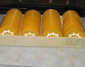 POKER CHIPS  Butterscotch clay