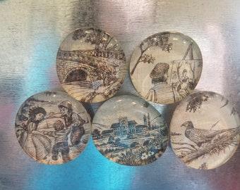 Glass Magnets - Vintage Images