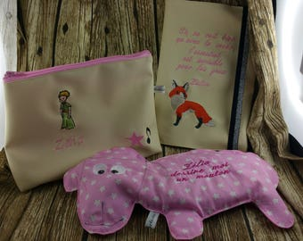 Pack list birth, birth gift, birthstone, personalized gift, embroidery, sheep, girl, child, baby