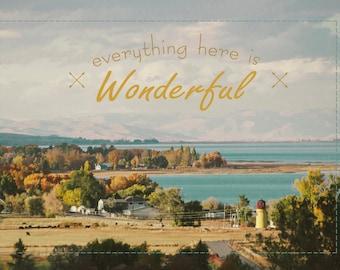 Everything Here Is Wonderful -Bear Lake Utah postcard
