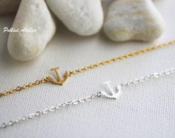 Anchor Bracelet in Silver/ Gold.  Hope Bracelet. Nautical Bracelet.  Sailor Bracelet. Good Luck Jewelry (PBL- 29)