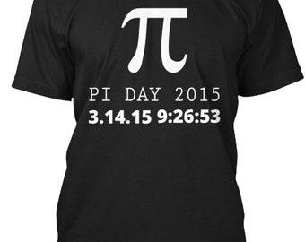 Pi Day 2015 - Hanes Tagless Tee - Black