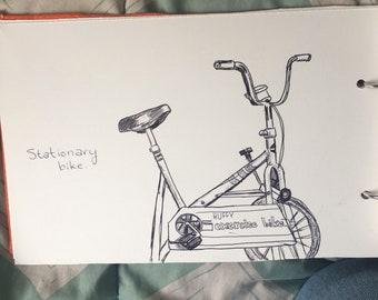 Stationary Bike drawing