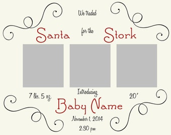 Holiday Baby Announcement
