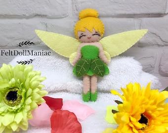 Tinker Bell. Felt Doll. Felt Pattern. PDF Pattern and Tutorial. Fairy Tale. Disney Fairy.