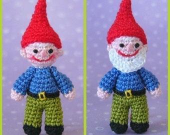 PDF PATTERN - Crochet Miniature Garden Gnome - Amigurumi Tutorial